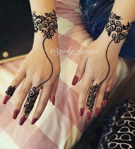 Best Mehndi Designs for Fingers (1)
