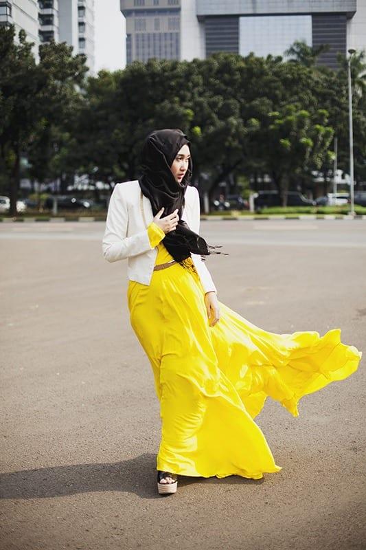Modest Fashion Ideas with Pashmina Scarves (8)