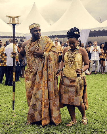 curvy african bridal outfit