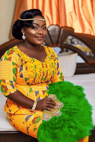 plus size african bridal outfit