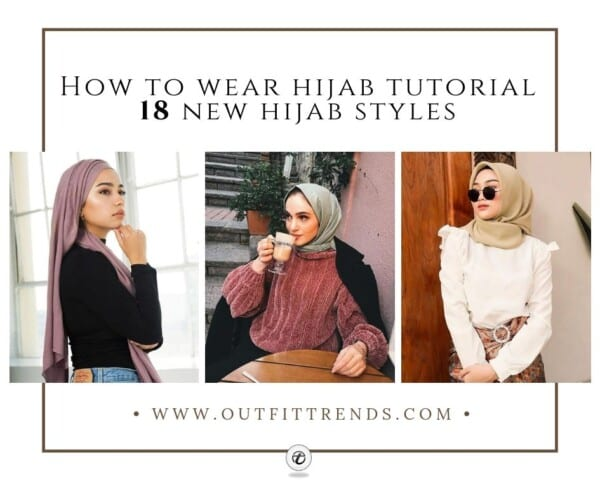 30d38a2643 How to wear Hijab Tutorial in 2019 With 18 New Hijab Styles