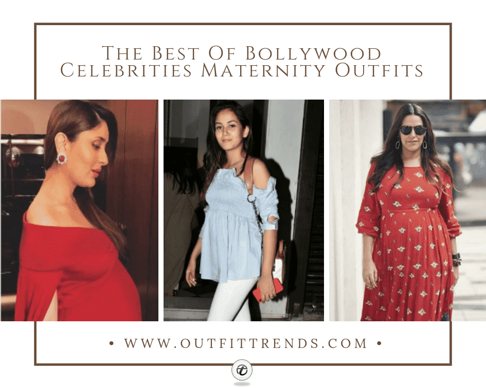 b78287218d7d8 14 Best Indian Celebrities Maternity Outfits Ideas for 2019
