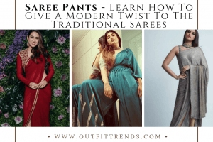 saree pants outfits