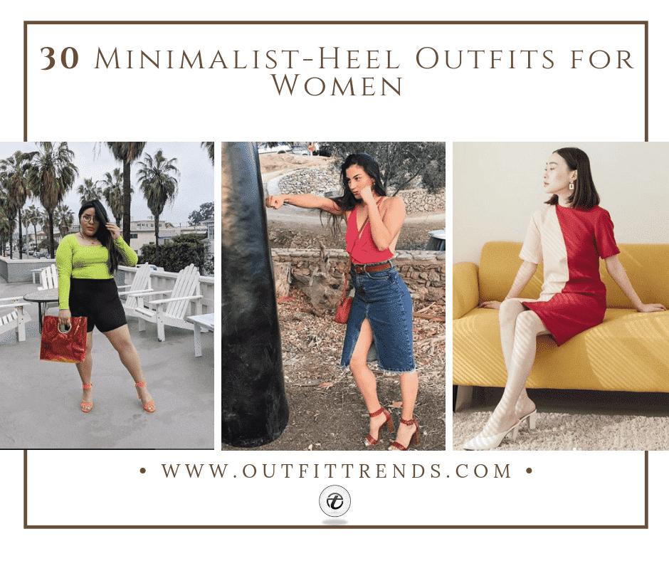 30 Minimalist-Heel Outfits