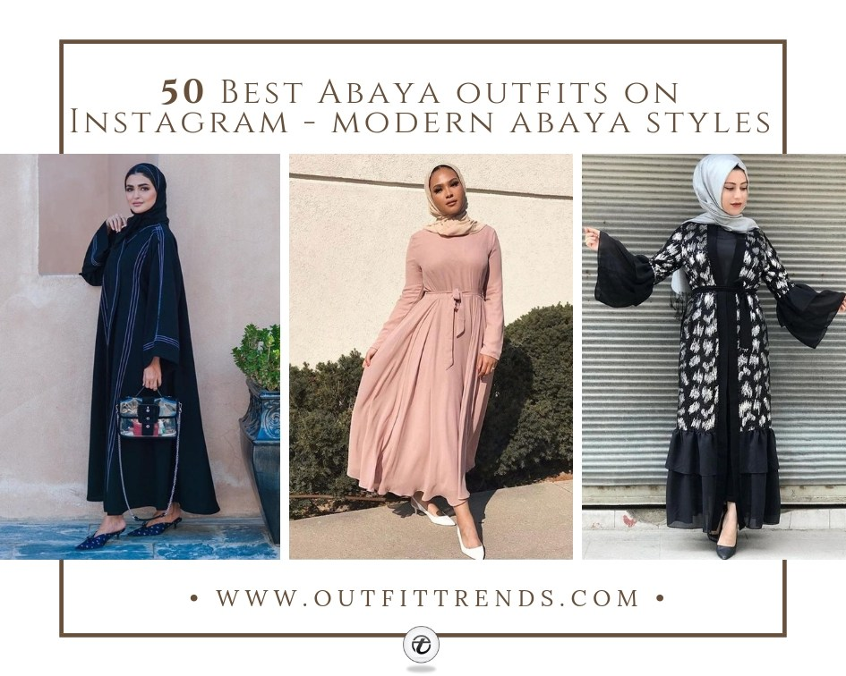 2a36ec5bf65c Modern Abaya Styles 2019 -50 Best Abaya Designs on Instagram