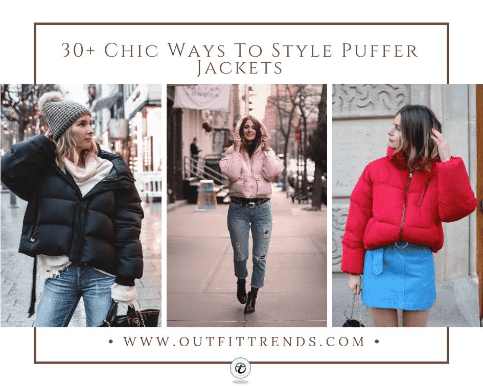 how to wear puffer jackets for girls