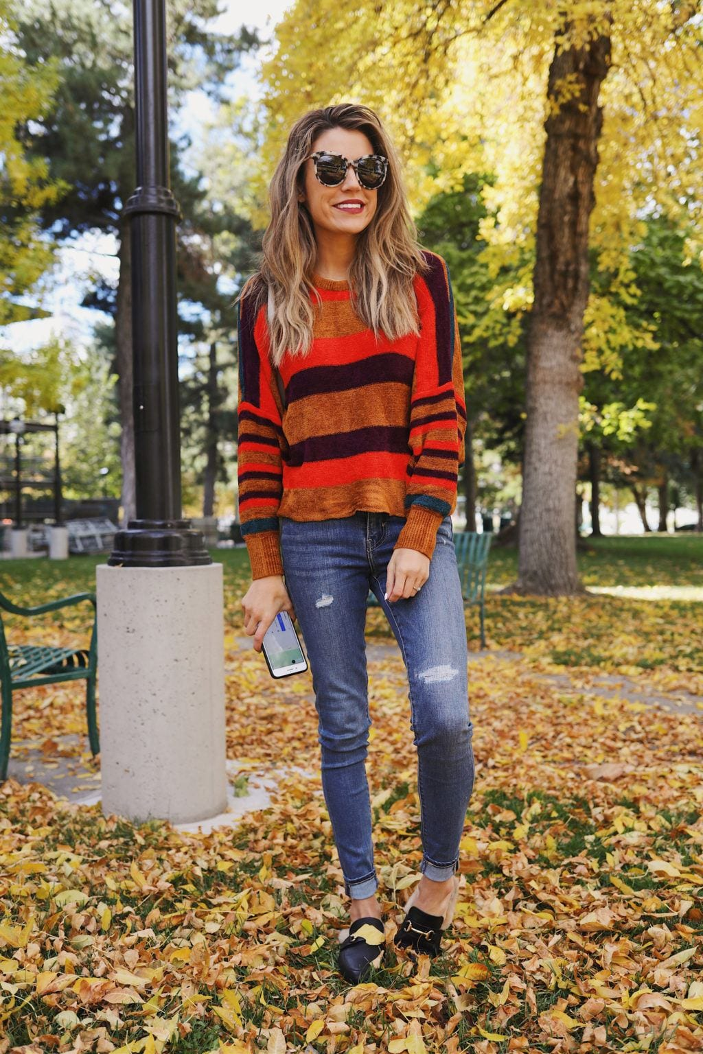 how to wear chenille sweater