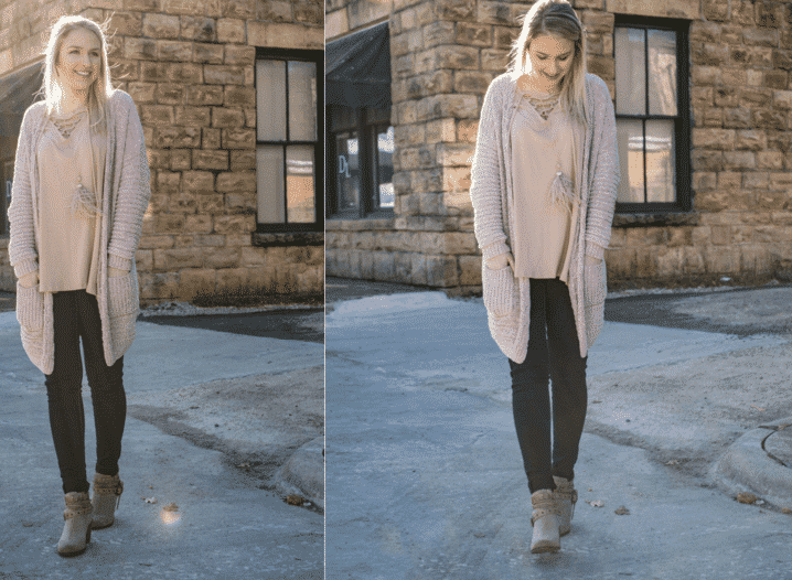 what to wear with chenille cardigan