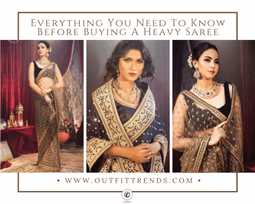 how to wear a heavy saree