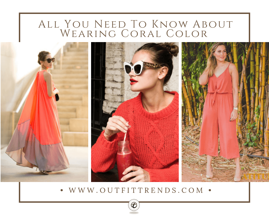 how to wear coral color outfits