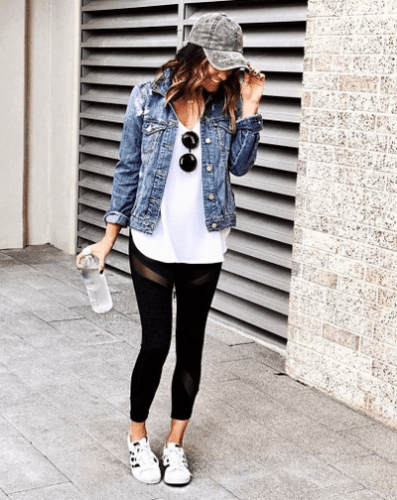 Cute Adidas Outfits For Women | Pink Adidas Top With Gray