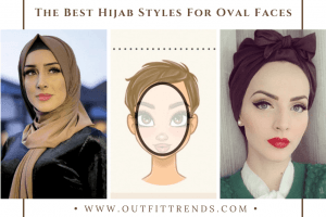 best hijab styles for oval faces
