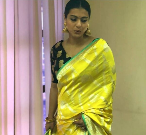 kajol yellow saree