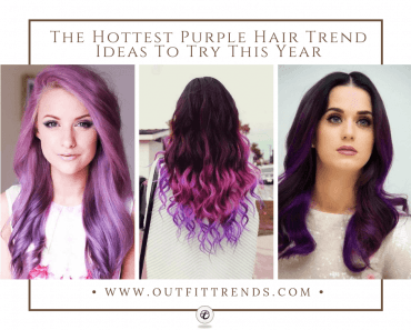 latest purple hairstyles