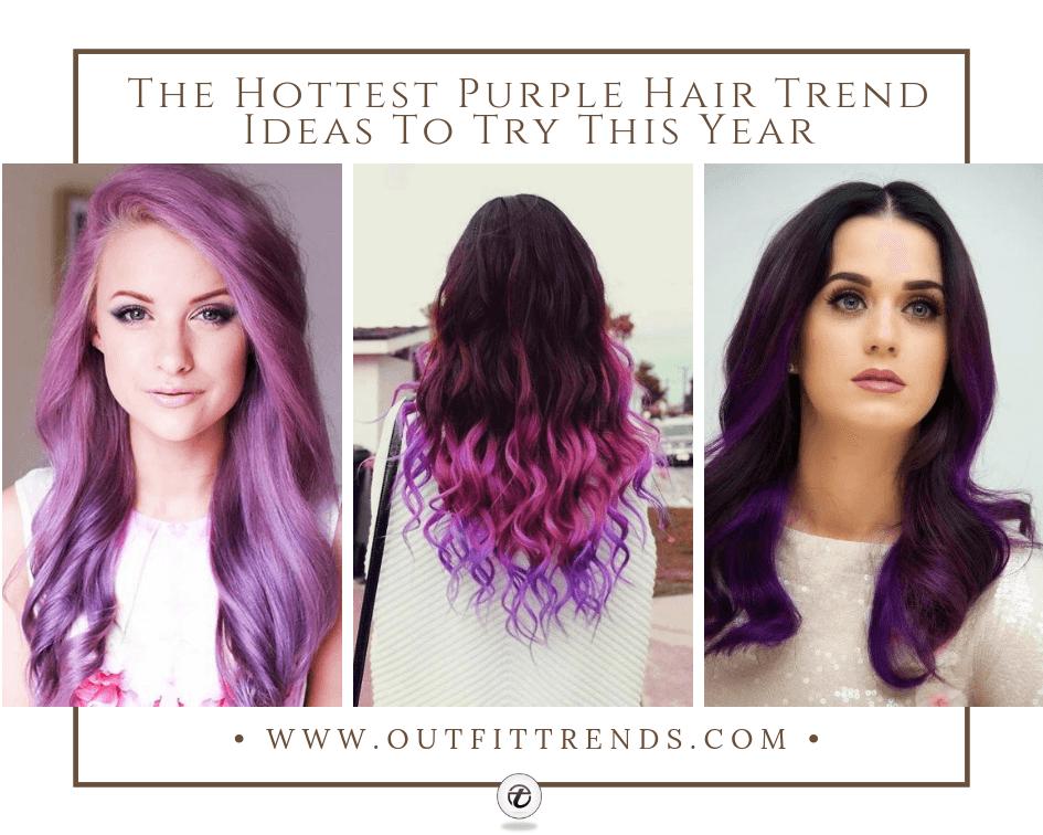 latest purple hairstyles