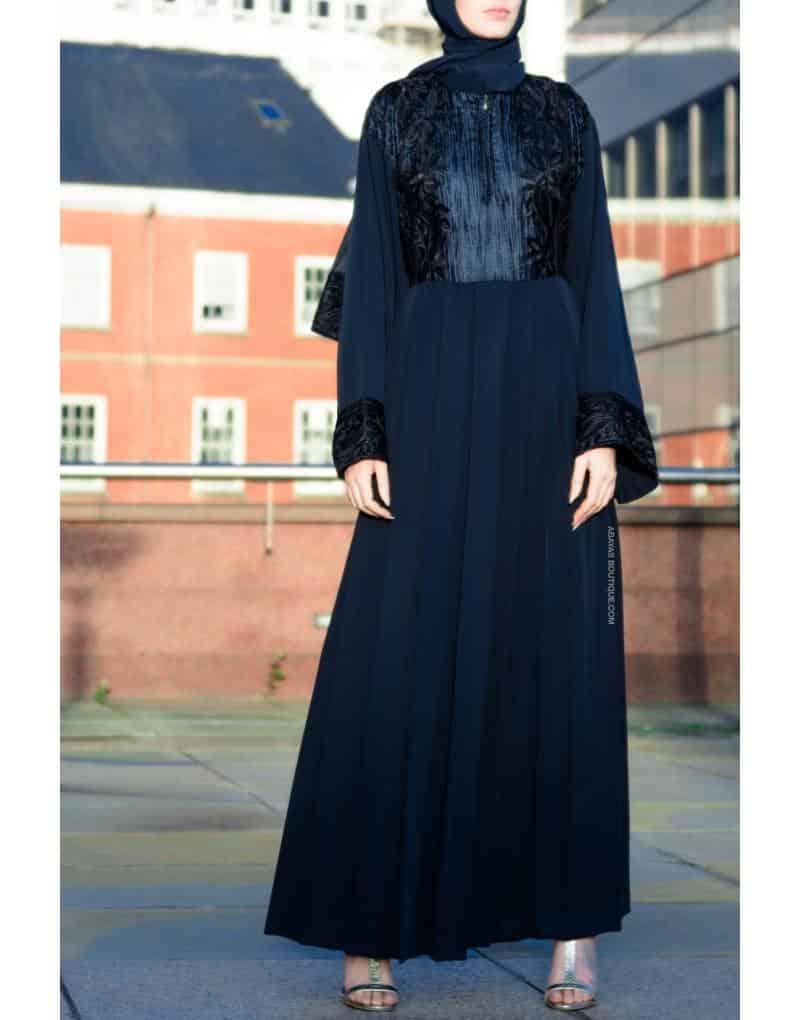 latest velvet abaya styles