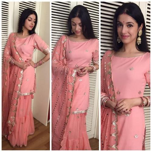 subtle pink sharara