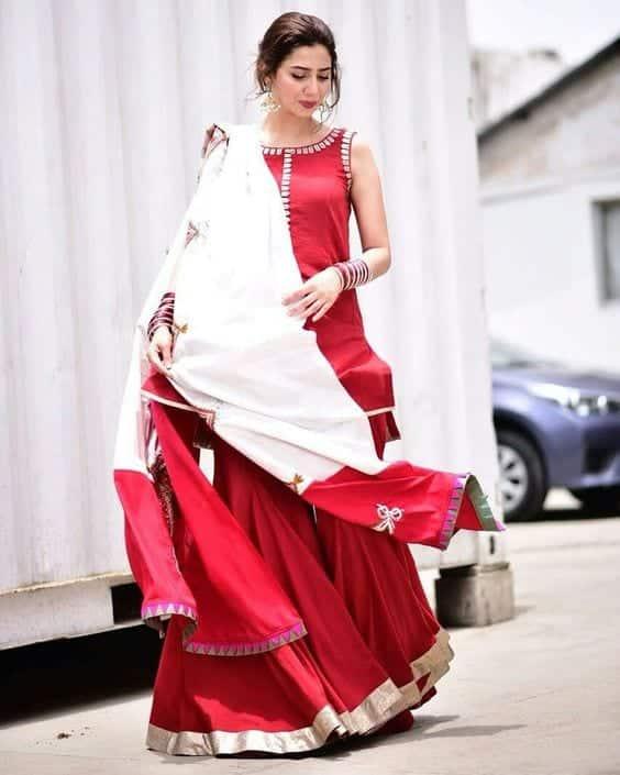 how to wear sharara