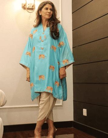 how to wear tulip shalwar