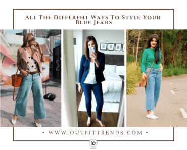 how to wear blue jeans