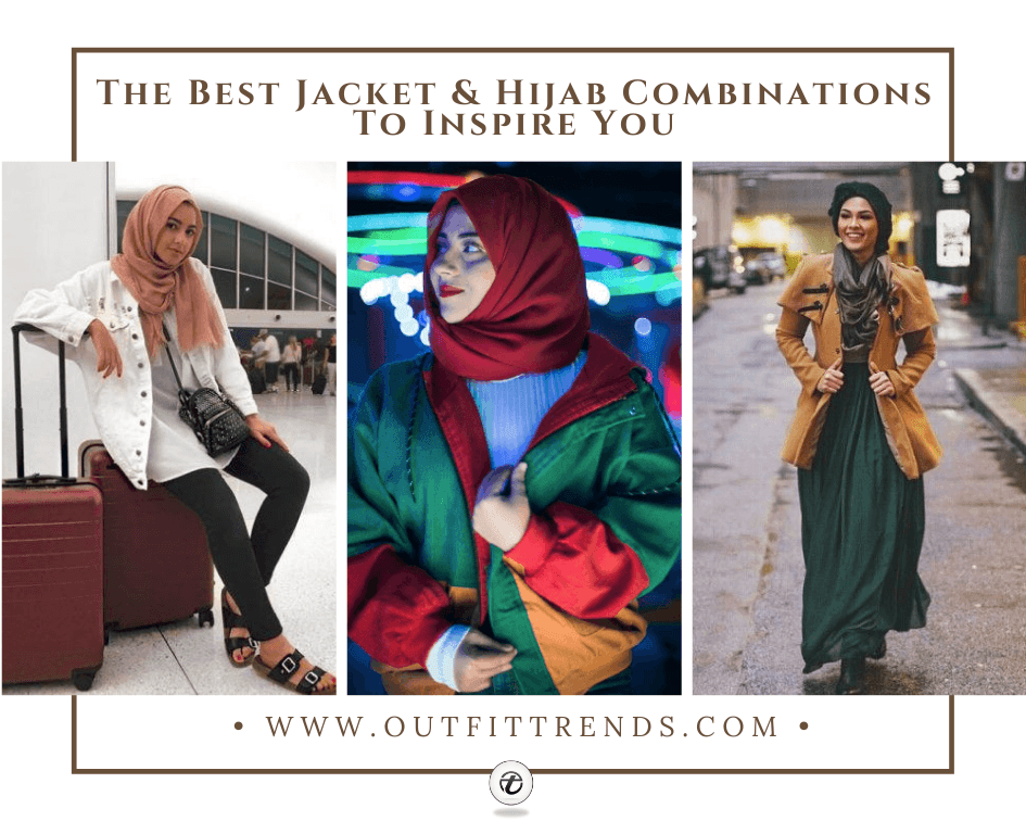 12 Decent Ways To Wear Hijab With Jackets in 2021