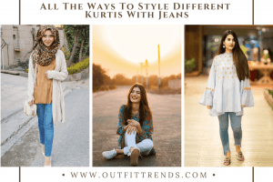 kurta styles with jeans for women