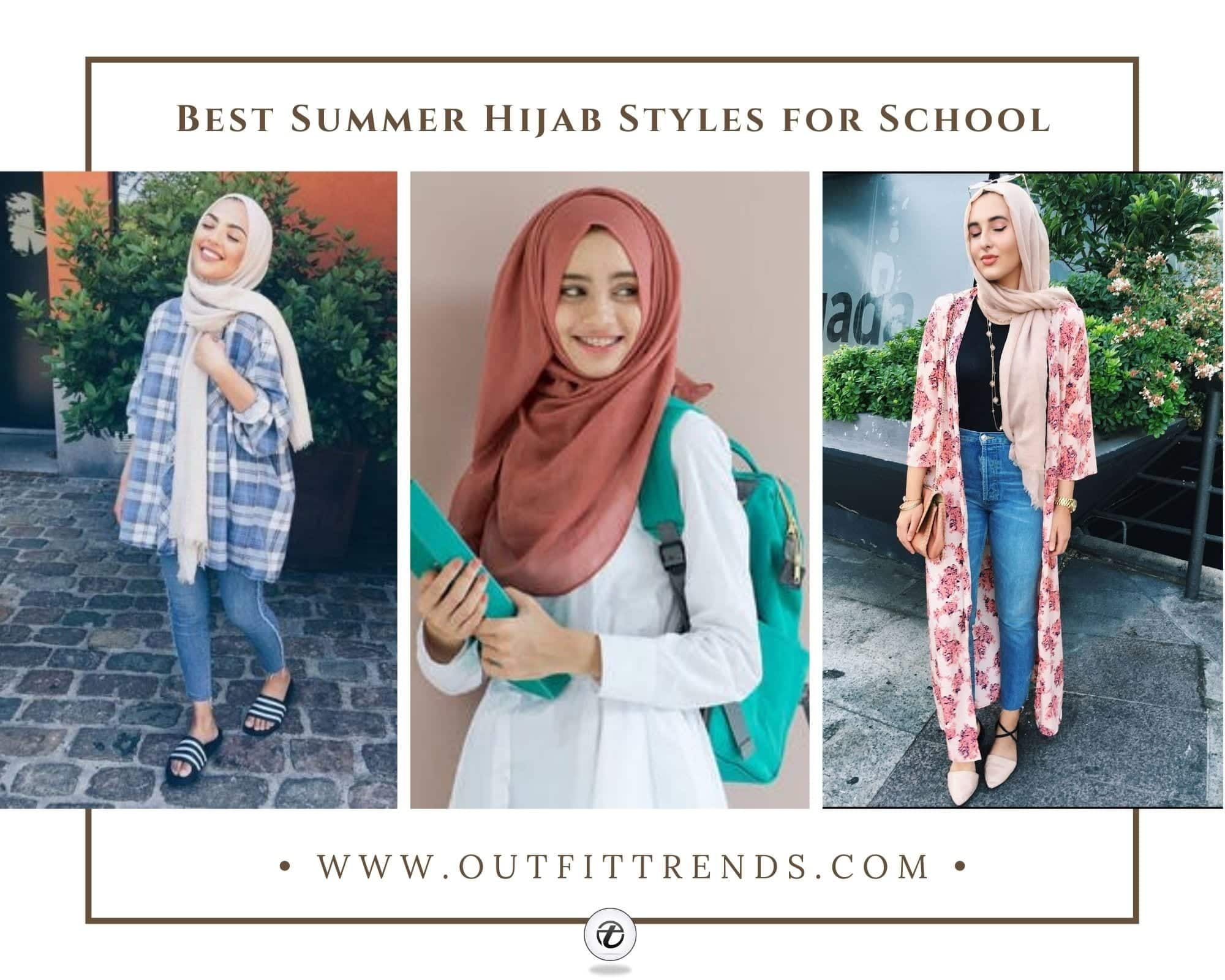 14 Best Summer Hijab Styles Outfits To Wear For School