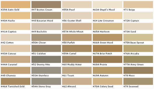 khaki color guide