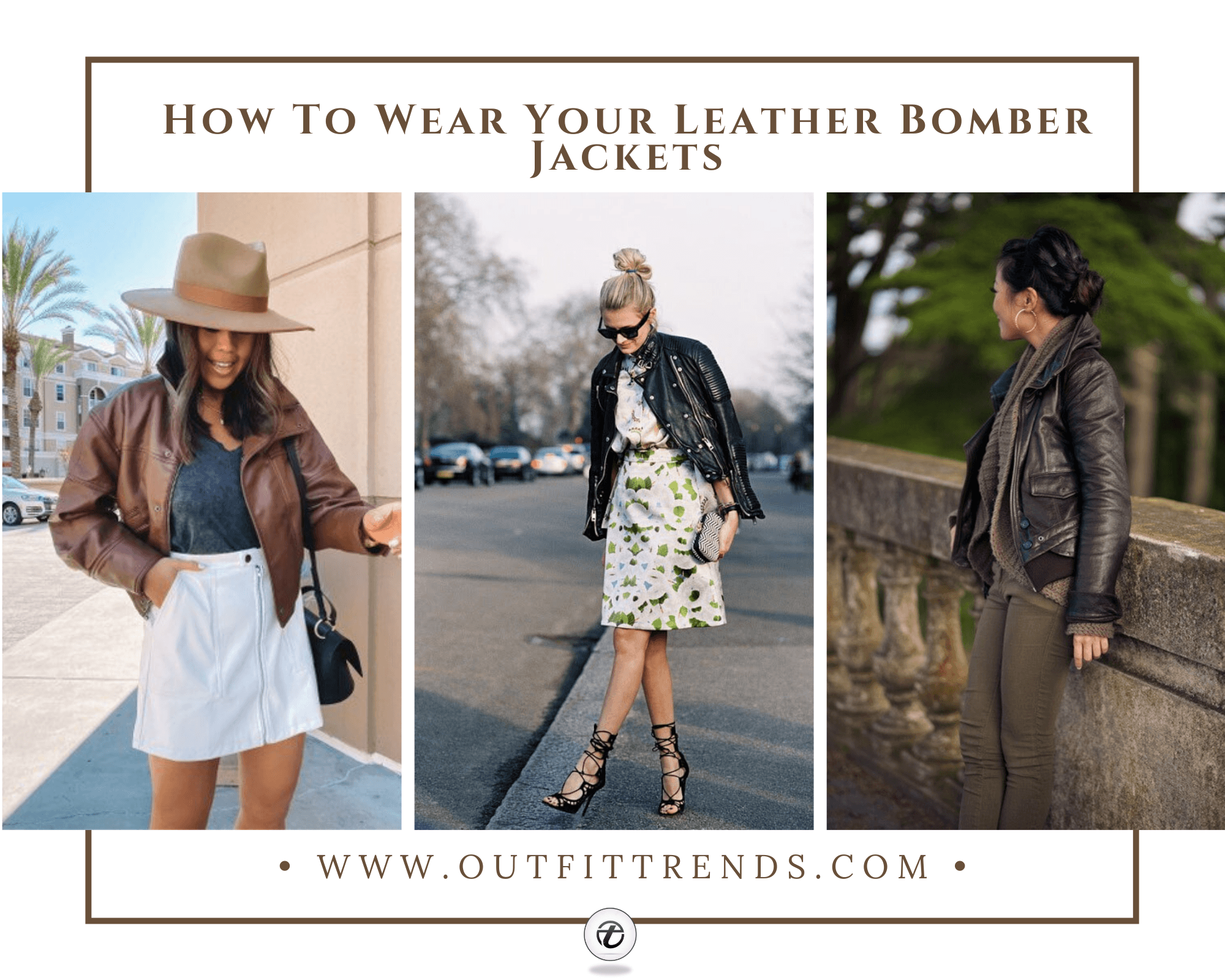 how to wear leather bomber jacket