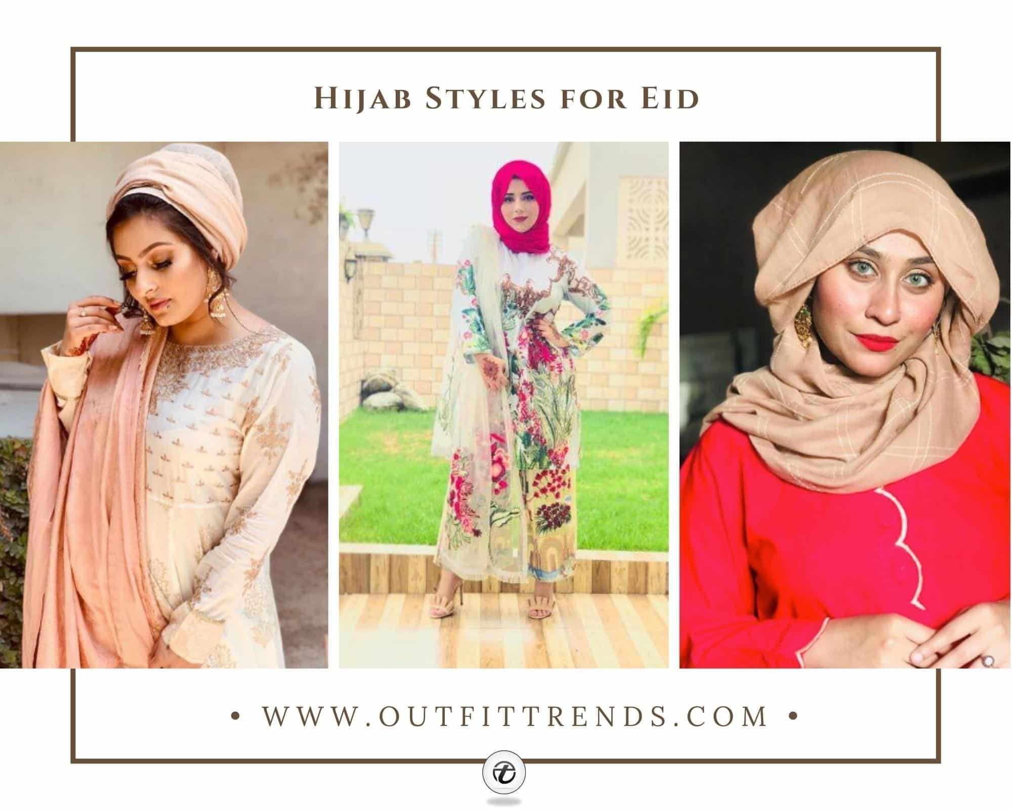 30 Latest Eid Hijab Styles With Eid Dresses-2021 Eid Fashion