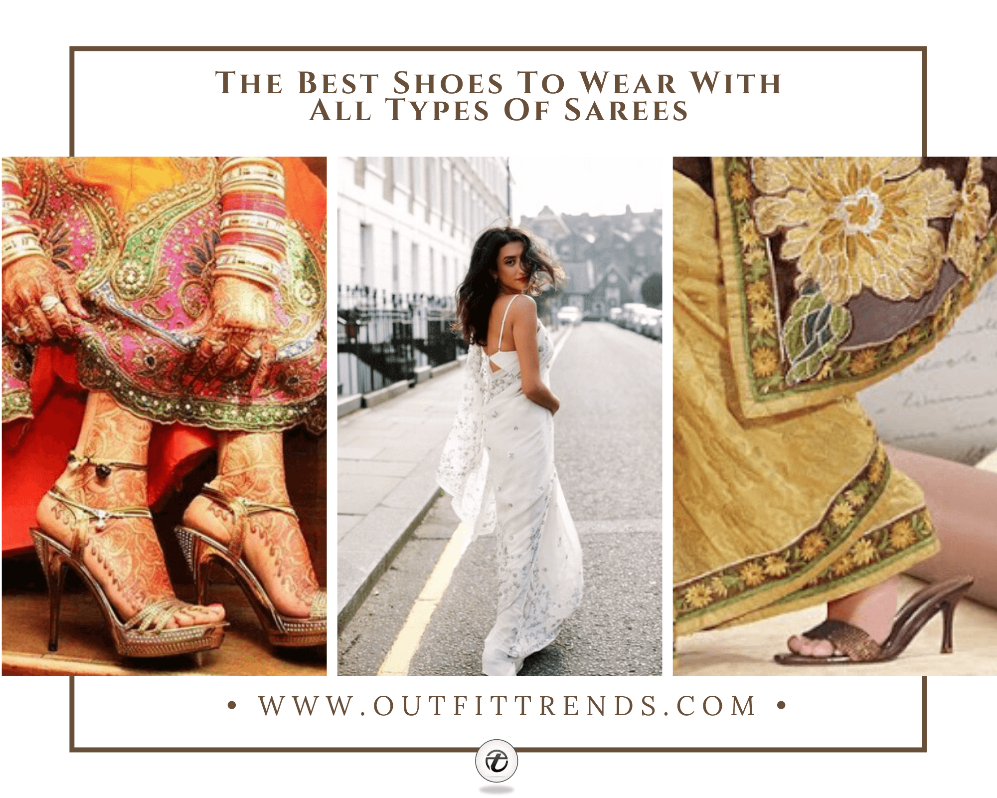 10 Best Shoes To Wear With Sarees Of Different Types