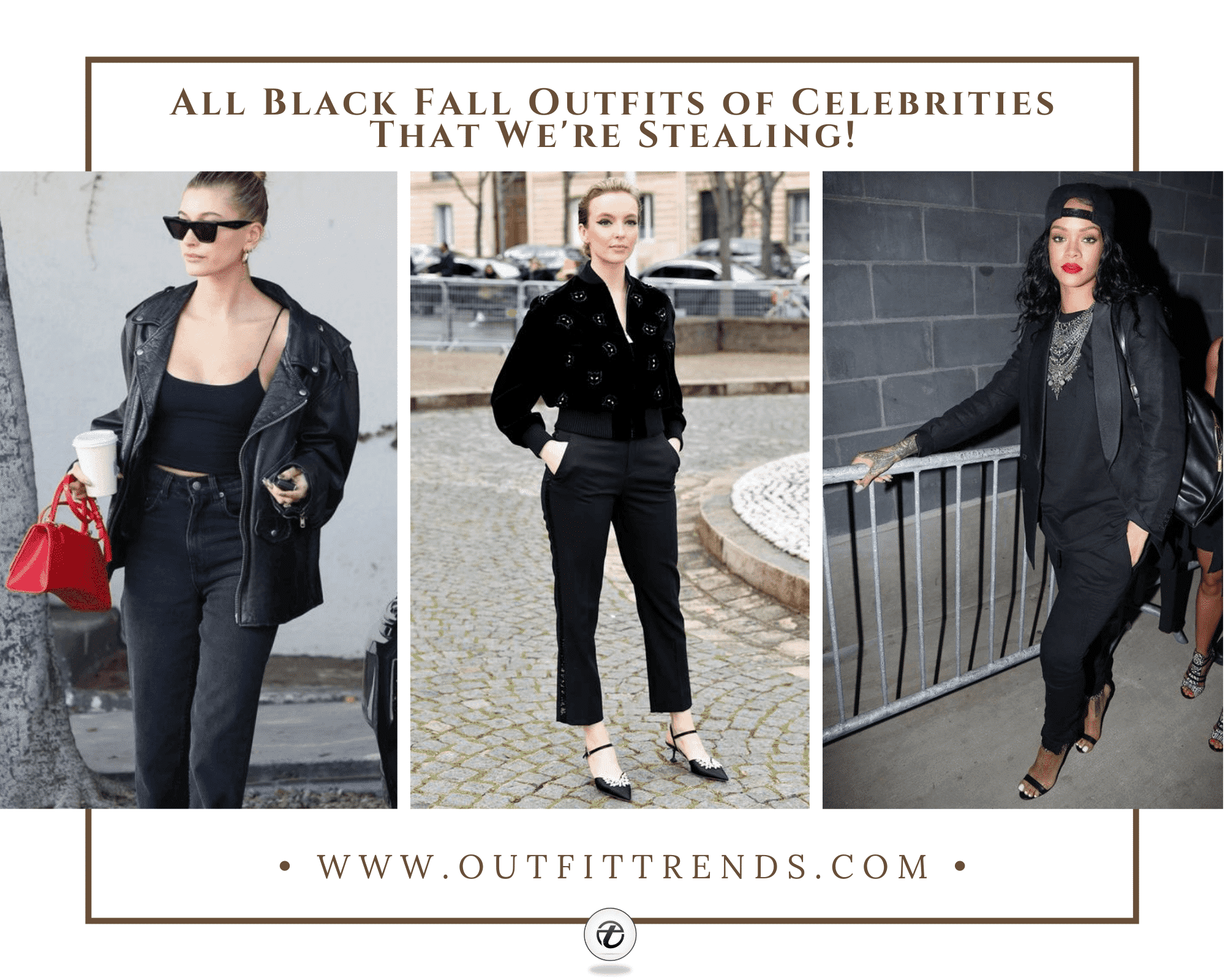30 Celebrities All-Black Outfit Styles for Fall to Copy