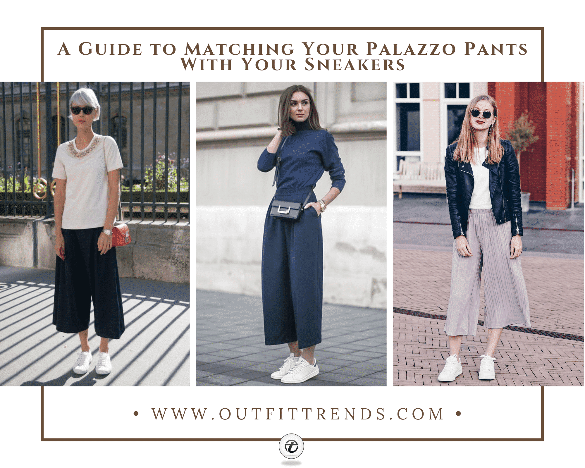 20 Ways to Wear Palazzo Pants with Sneakers