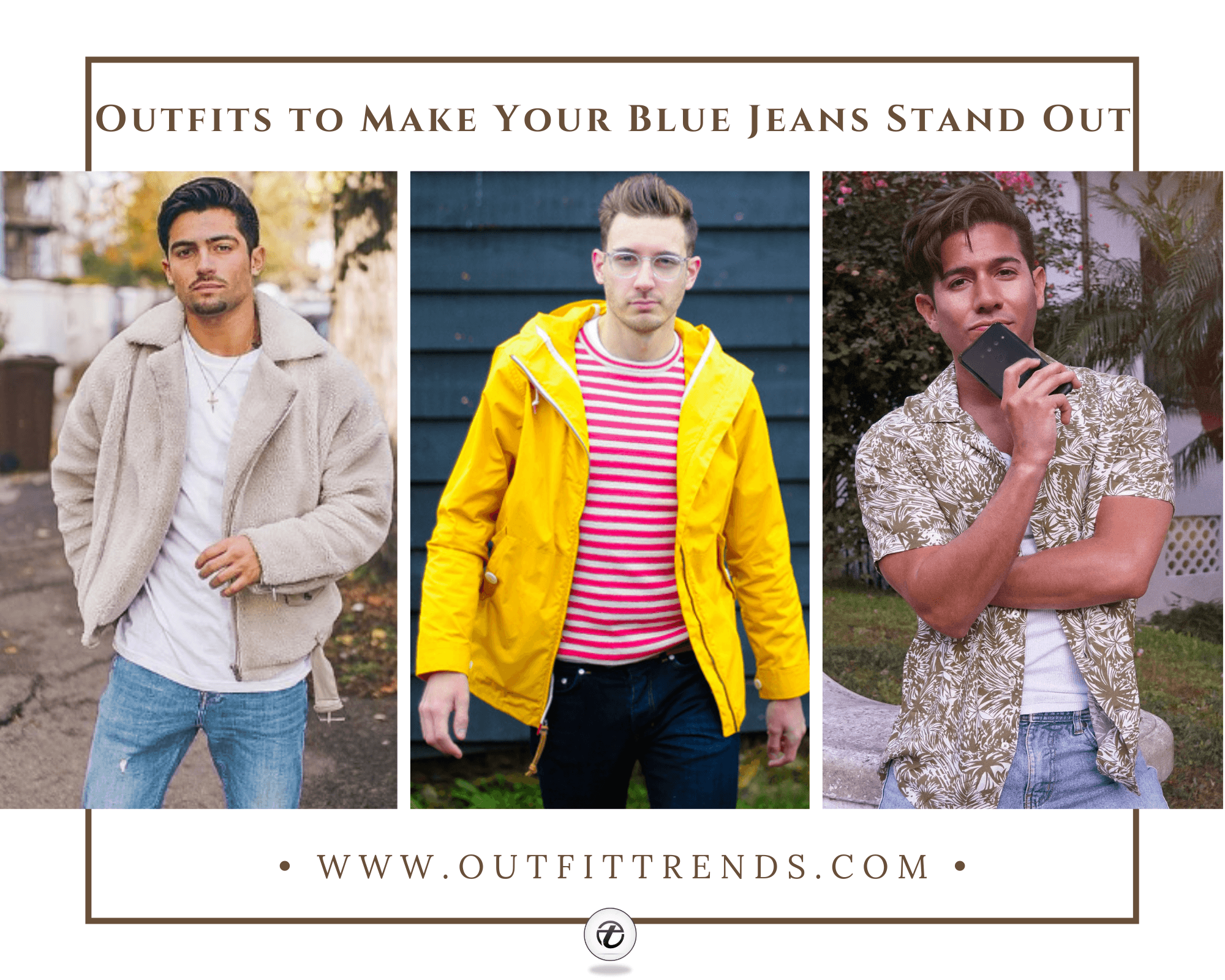 Men Outfits with Blue Jeans | 45  Ways to Style Blue Jeans