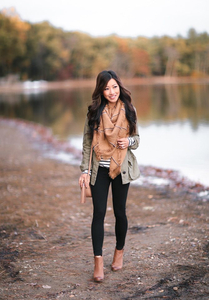 Utility Jacket and Scarf