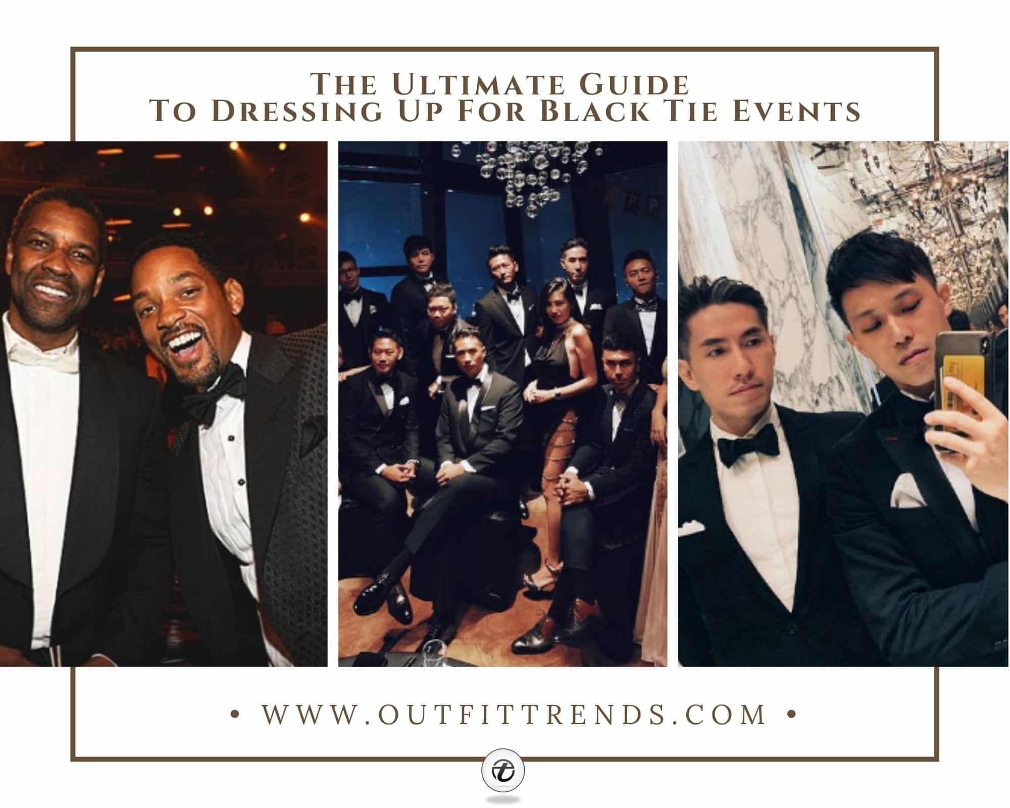 Men's Black Tie Dress Code | 17 Outfits for Black Tie Events
