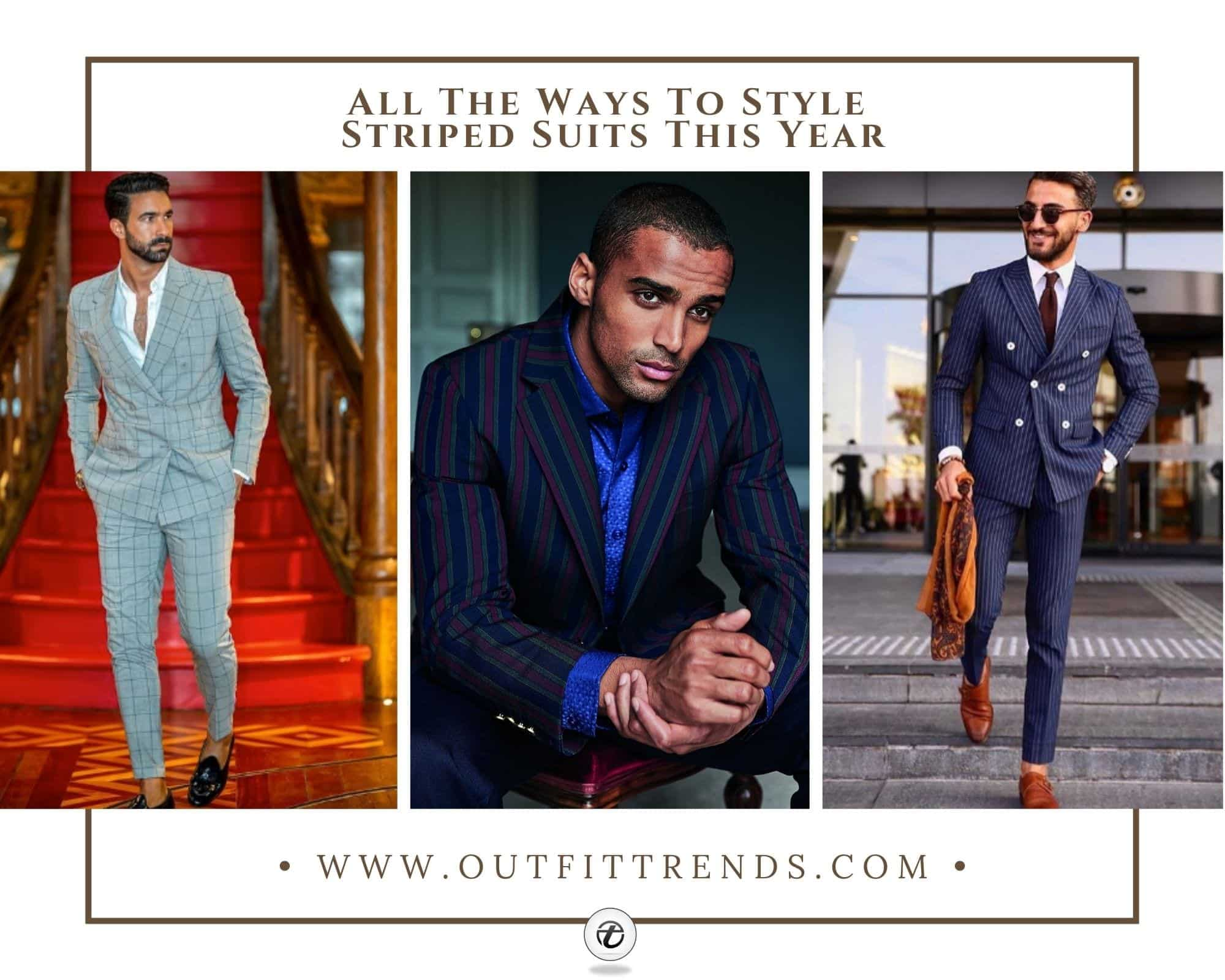 Striped Suits For Men: 20 Best Ways To Wear Pinstripe Suits