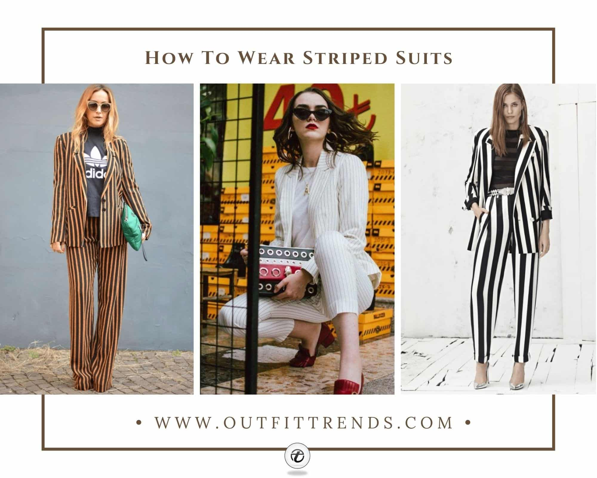 Striped Suits for Women 17 Ways to Style a Pinstripe Suit