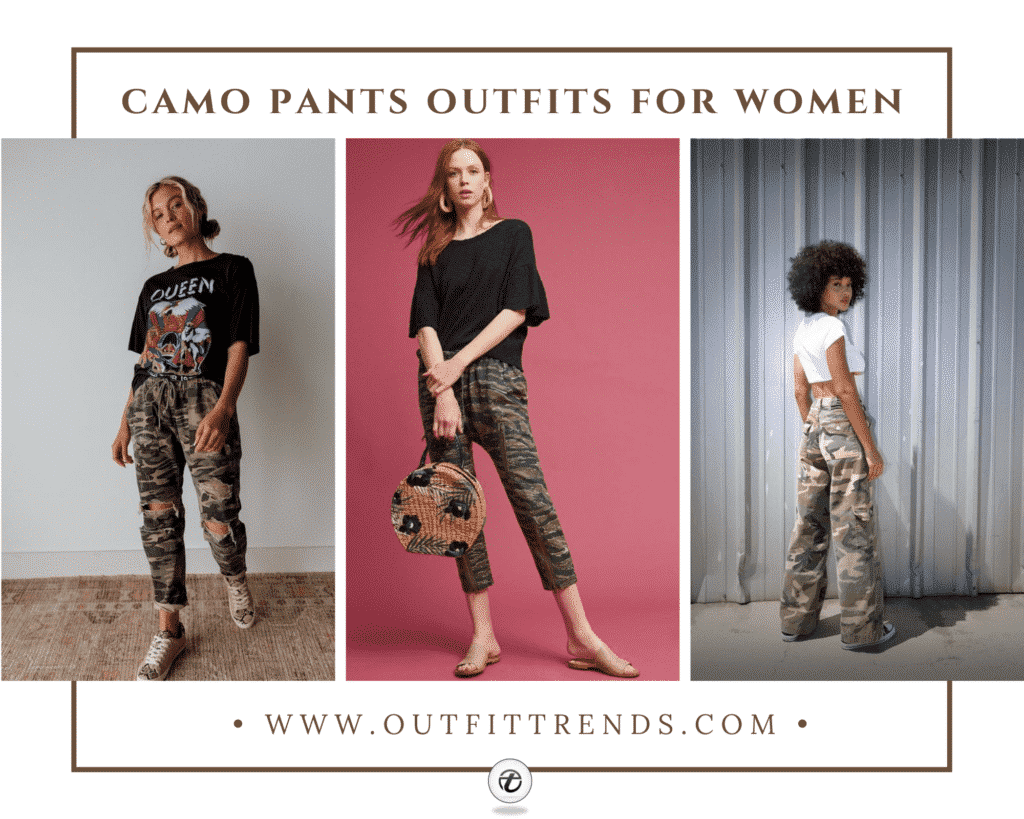 camo pants outfits for women