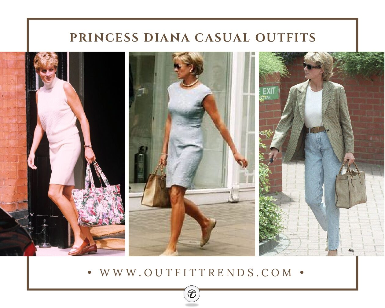 20 Best Princess Diana Casual Outfits Of All Time That We Love