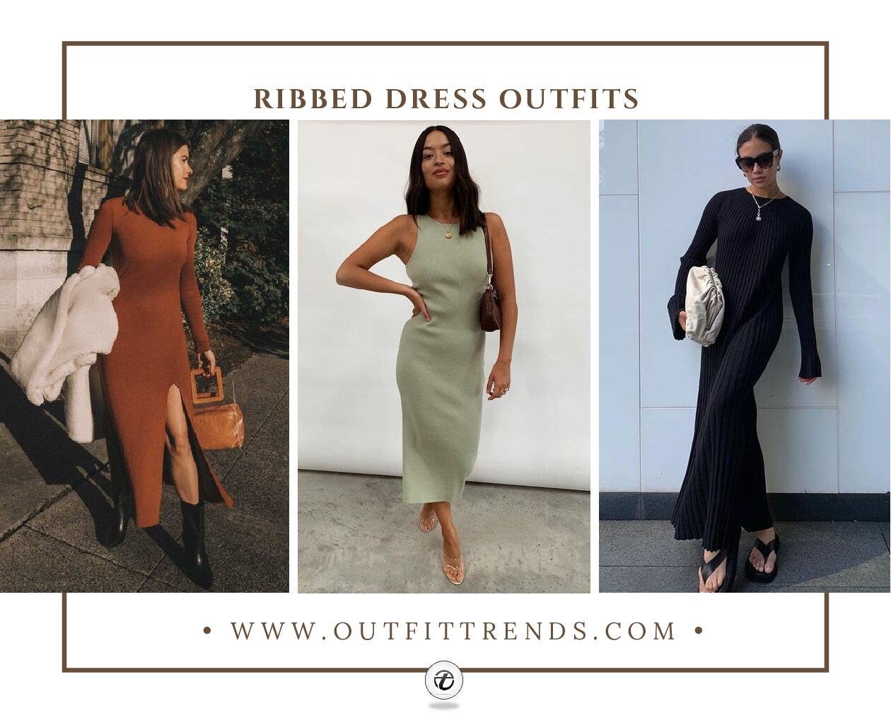 Ribbed Dress Outfits 20 Ideas on How to Wear a Ribbed Dress