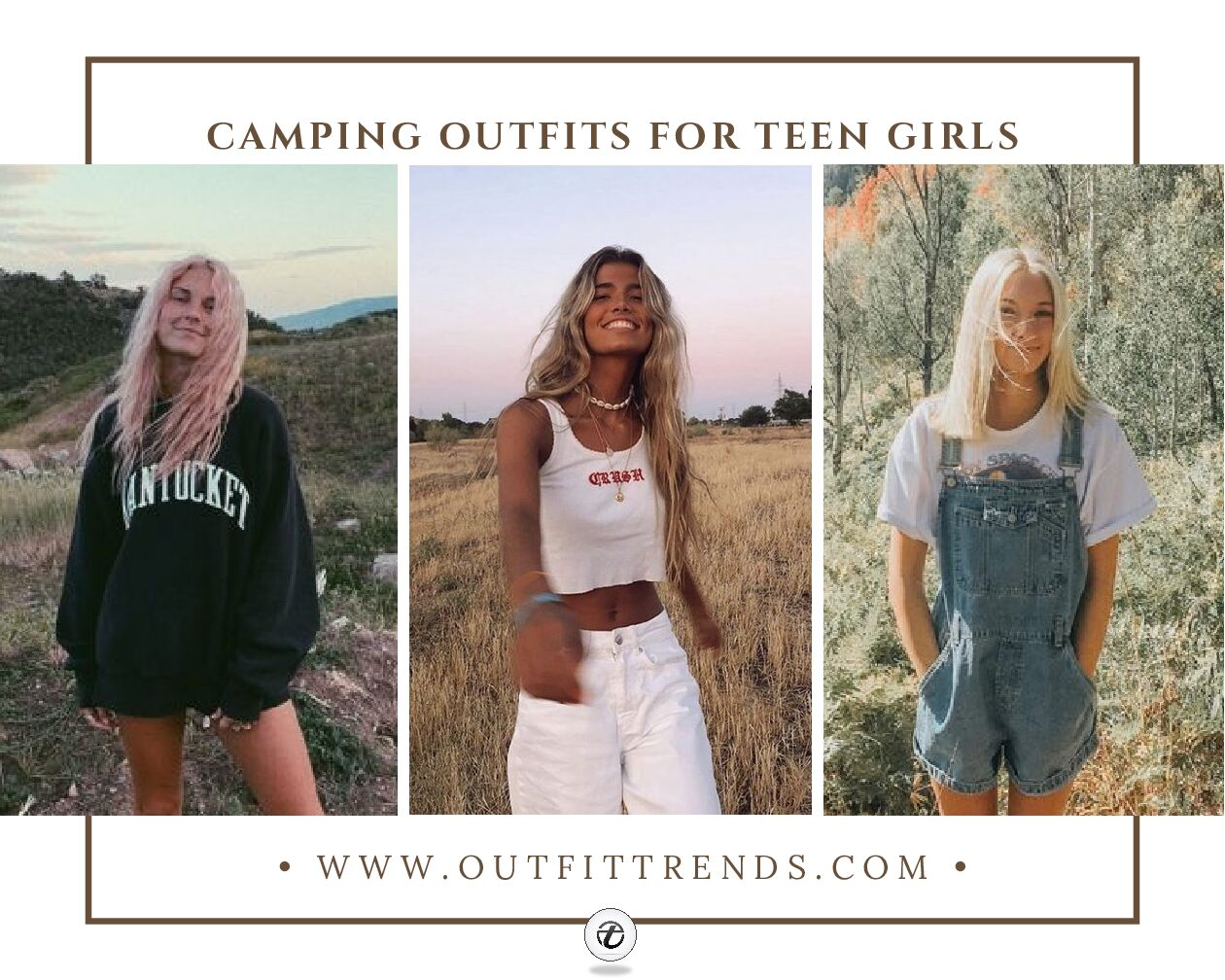 20 Cutest Summer Camping Outfits for Teen Girls to Wear 2021